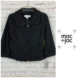 NWT Mac + Jac Wool Blend Ruffle Jacket